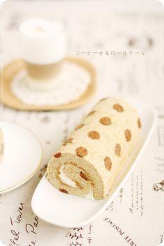 Coffee Polka Dotted Roll Cake コーヒー水玉ロールケーキ | Flickr - Photo Sharing!