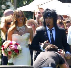 Motley Crue's Nikki Sixx marries Courtney Bingham at the Greystone Mansion in Beverly Hills, Calif., on March 15, 2014.