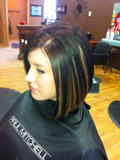 Medium bob I think I want this cut. But not the high lights.