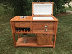 Rustic Cooler Bar Cart By ChriswoodworkDesign On Etsy