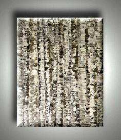 BLACK WHITE BIRCH TREE PAINTING Consignments Welcome, Convey for a Quote