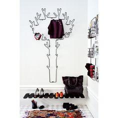 Tree Hanger ripustin, musta ryhmässä Huoneet / Eteinen @ ROOM21.fi (100853)