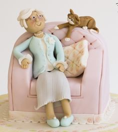 Old Lady Armchair Cake