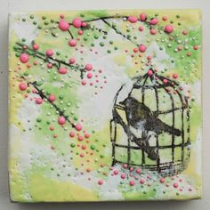 birdcage among the blossoms