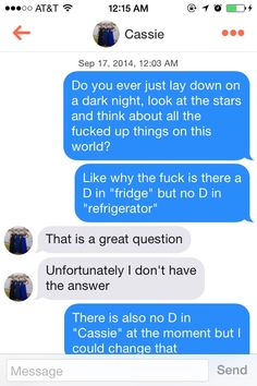 Think I should try this pick up line