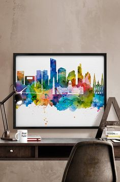 Buenos Aires print Buenos Aires watercolor Buenos by iPrintPoster