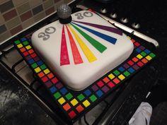 Rainbow Glitter Disco Cake