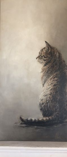 😮 Tabby cat painting – Bilder – Wow, a painting! M Painting tabby cat # cat – Images – # cat Chats Tabby, Cats And Kittens, Tabby Cats, Siamese Cats, Cat Drawing, Nature Animals, Dragon Age, Animal Paintings, Crazy Cats
