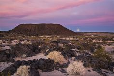 Amboy Crater  Amboy, California, became a nearly empty ghost town in California's Mojave Desert in the 1970s