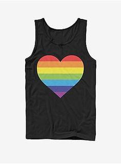 Dark Royal Lion Mens Tank Top Rainbow Drops Gay Pride Flag