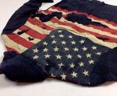 Denim-Supply-Ralph-Lauren-Men-Tattered-USA-American-Flag-Sweater-Knit-Cardigan