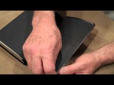 How to cover your book  1 of 4 - leather Bible cover