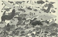 ETSUKO FUKAYA There is plenty of energy to be found in Etsuko Fukya's finely-detailed etchings.