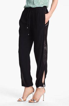 I want these, but largest size is 10? RUDE. Diane von Furstenberg 'Kamaris' Sequin Tuxedo Stripe Pants