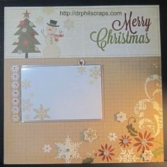 Christmas layout using CTMH flip flaps - http://drphilscraps.com