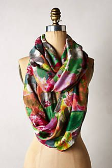 Washed Garden Infinity Scarf - Anthropologie