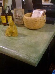 DIY Concrete Counters in multiple color choices!