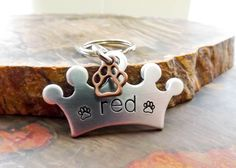 Crown Dog ID Tag for Dogs