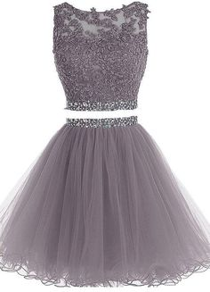 Charming Prom Dress,Sleeveless Tulle Prom Dress,Elegant Grey Homecoming