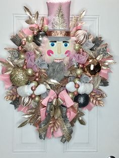 Rose Gold Nutcracker Wreath, Christmas Nutcracker Wreath, Nutcracker Decor, Elegant Christmas Wreath, Whimsical Christmas Wreath - Page 2 of 31 - Easy Hairstyles Whimsical Christmas Trees, Gold Christmas Decorations, Elegant Christmas, Pink Christmas, Christmas Balls, Vintage Christmas, Christmas Crafts, Christmas Ornaments, Holiday Decor