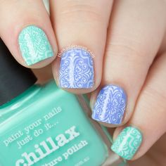 31DC2015: Delicate Print with UberChic Beauty | The Nailasaurus | UK Nail Art Blog