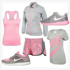 Sporty outfits, nike outfits, workout attire, workout gear, workout out Trend Fashion, Sport Fashion, Fitness Fashion, Womens Fashion, Fitness Wear, Fitness Outfits, Sport Chic, Nike Outfits, Sport Outfits