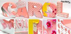 Letras 3D - Princesa Aurora