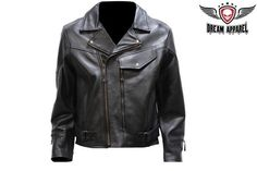 Men's Pistol Pete Leather Jacket Biker Jacket Motorcycle Jacket Harley Jacket #DreamApparel #Motorcycle