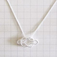 'forget me knot' Silver Necklace