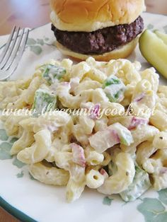 I give this a 5. Simple but so good. The addition of chicken stock to the mayo makes it so incredibly creamy! Really good. The Country Cook: Moms Macaroni Salad