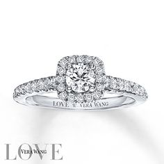 Vera Wang LOVE 3/4 Carat tw Diamonds 14K White Gold Ring $2379.00