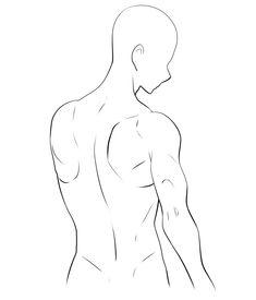 【描き方とポーズ集】男の背中を描く [4]