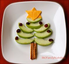 Healthy Christmas Tree Snack ~ Free directions from 360 Family Nutrition.  I'm thinking this could lead to a great how-to writing task.