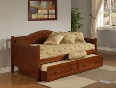 Brand new Staci-Cherry - Daybed Trundle - Daybeds from Hillsdale. Crowley Furniture is Kansas City's family owned furniture store for over 60 years. Sofa Daybed, Daybed Bedding, Daybed Mattress, Twin Daybed With Trundle, Daybed With Storage, Bedroom Furniture, Home Furniture, Wooden Furniture, Cherry Furniture