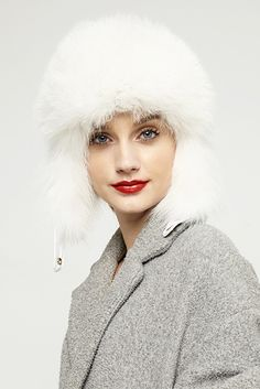 fur hat for women 530 white