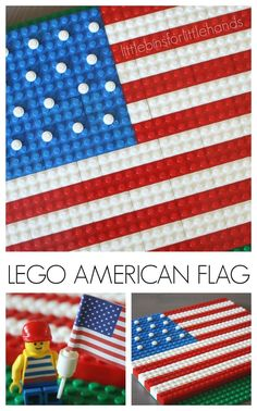 Lego American Flag Patriotic Activity for Kids