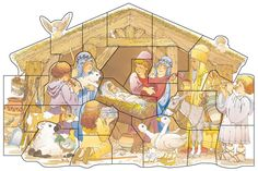 Christmas countdown from lds.org. Each day has a scripture and an activity, at the end you've put together a picture of the manger