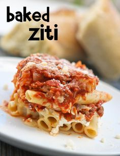 Baked ziti with sausage, Baked ziti and Skillets on Pinterest