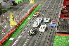 Oxigen digital four lanes track at the Modena Slot Club - Slot Cars Ho Slot Cars, Slot Car Racing, Slot Car Tracks, Train Tracks, Year 9, Pedal Cars, Scale Models, Circuit, Modeling