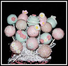 Shabby Chic Cake Pops