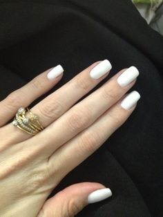honestly, matte white nails are simply the best