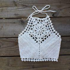 Crochet Swimwear Crochet Halter Top crop bralette swim Discovred by : Chiêu Firefly Crochet Diy Crochet Crop Top, Crochet Diy, Crochet Halter Tops, Crochet Woman, Love Crochet, Crochet Bikini, Motif Bikini, Halter Bikini, Lace Bikini