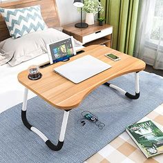 Amazon.com: lap desk with legs Bed Tray Table, Couch Table, Kids Bedside Table, Couch Sofa, Sofa Tables, Table Desk, Portable Laptop Table, Laptop Table For Bed, Simple Dining Table