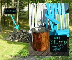 DIY-Stump Table