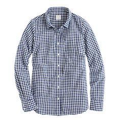 Perfect shirt in mini-gingham. Loving mini-gingham for fall.