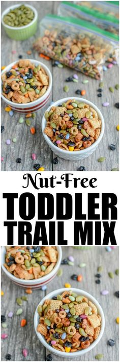 This Nut-Free Toddler Trail Mix is the perfect make-ahead snack. Make a batch during your food prep session and portion into bags for kids to eat throughout the week. (AD)