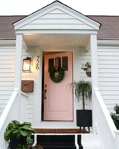 Painted Front Door Tips and our new PINK Door - Nesting With Grace