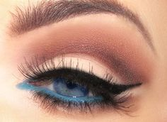 Blue & black eyeliner. We (Mary Kay)have a beautiful teal gel eyeliner coming out in the fall. This would be amazing to try for a night out!