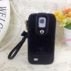 Klogi Case Cover Detachable Hand Strap for Samsung Galaxy S4 - Black