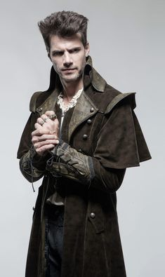Amazing mens gothic trench coat, gothic trench coats for men are available in our gothic trench coat men collection. Find the gothic trench coat for men of your dreams with Punkravestore at affordable prices. Gothic Trench Coat, Trench Coat Men, Men Coat, Men's Coats And Jackets, Long Jackets, Man's Overcoat, Steampunk Men, Steampunk Goggles, New Shape